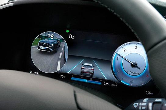Nuevo Hyundai Santa Fe Híbrido panel de instrumentos