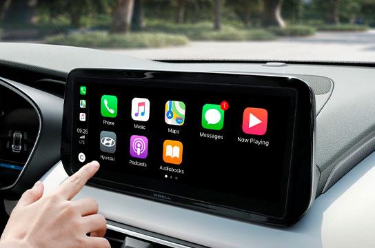 Nuevo Hyundai Santa Fe Híbrido pantalla digital