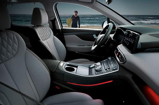Nuevo Hyundai Santa Fe Híbrido Interior consola central