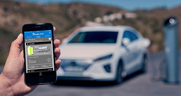 Hyundai IONIQ Eléctrico conectividad bluelink