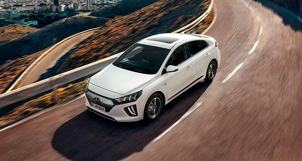 Hyundai IONIQ Eléctrico vista aérea