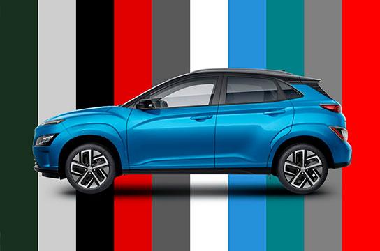 Nuevo Hyundai Kona Eléctrico colores disponibles