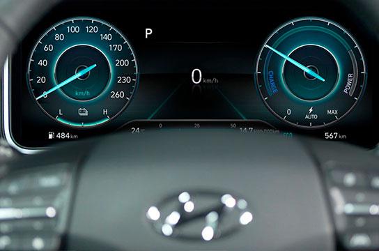 Nuevo Hyundai Kona Eléctrico panel instrumentos