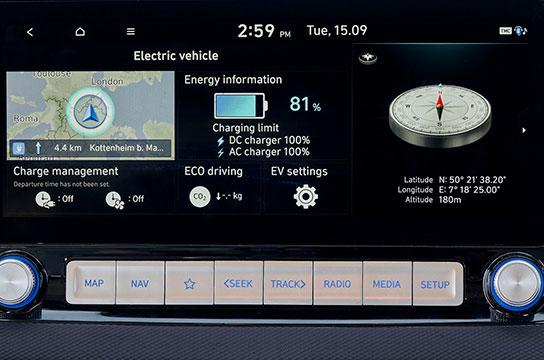 Nuevo Hyundai Kona Eléctrico pantalla digital